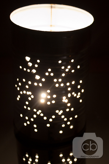 Snowflake Tin Can Luminary